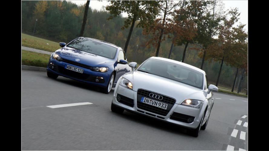 Familienzwist unter Sportlern: VW Scirocco gegen Audi TT
