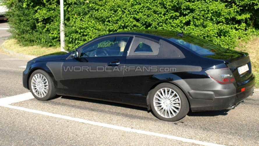 2012 Mercedes C-Class Coupe first spy photos