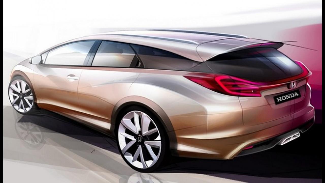 Honda Civic Wagon Concept - Conceito de versão perua será mostrado em Genebra