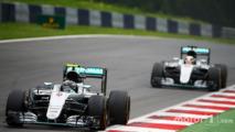 Nico Rosbergleads team mate Lewis Hamilton