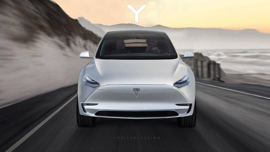 Tesla Model Y Crossover Rendered With Model 3 Cues