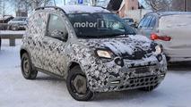 Fiat Panda mule spy photo