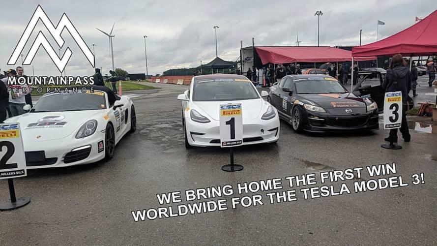 Tesla Model 3 Beat Porsche In Time Attack Race