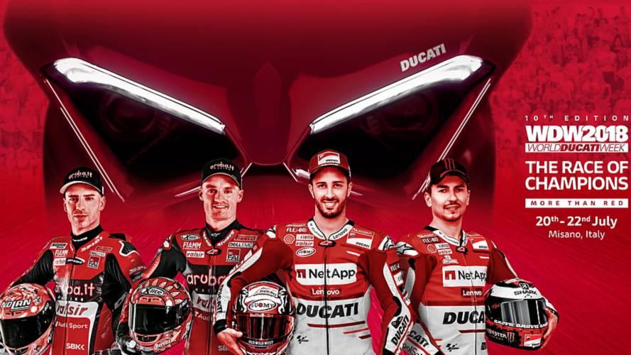 Los pilotos Ducati de MotoGP y WorldSBK se enfrentarán en la WDW