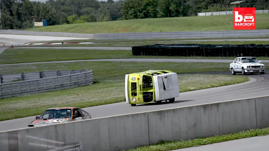 Sideways VW Camper Van LeMons Racer Will Alter Your Reality