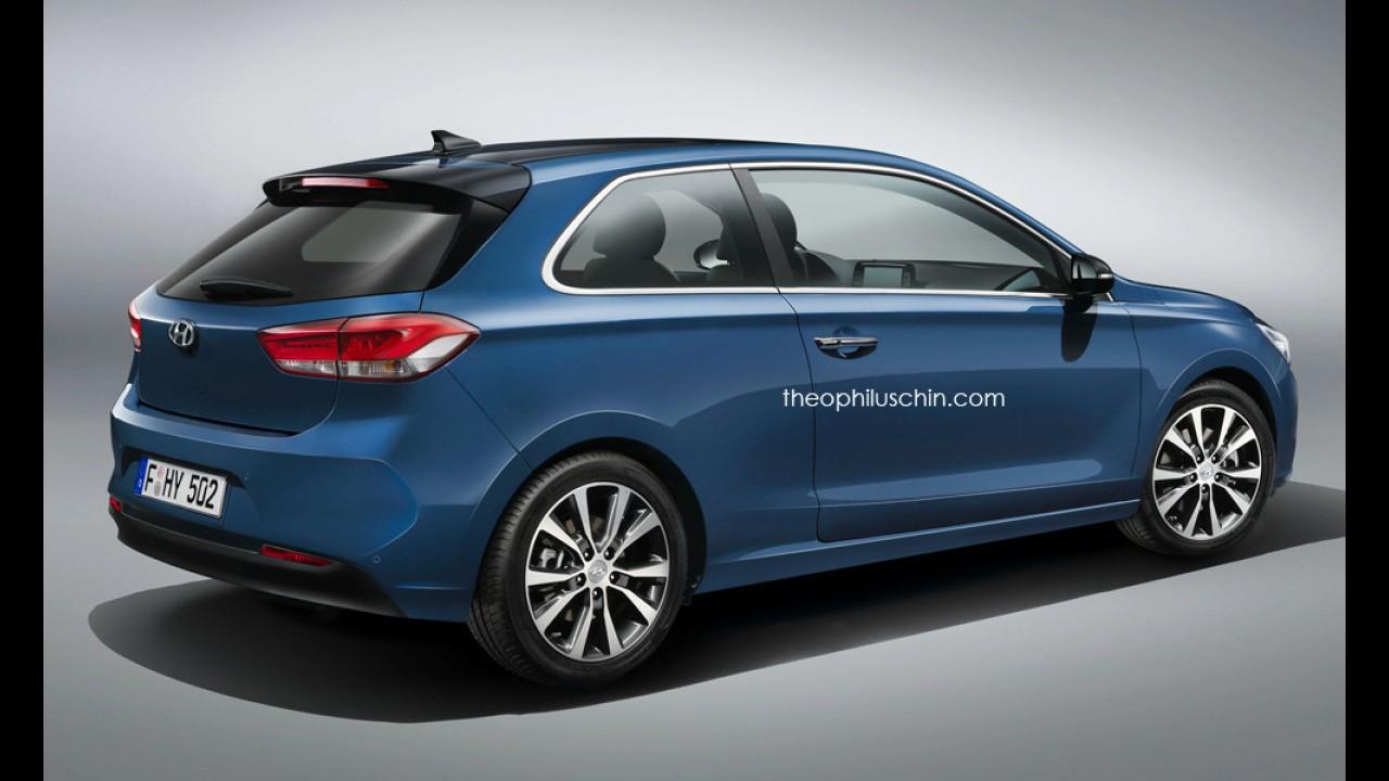 Veja como seria um Hyundai i30 2017 em versão de duas portas - projeção