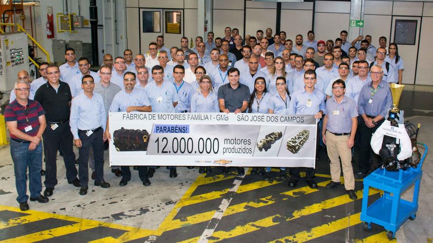 GM comemora 12 milhões de motores produzidos em São José dos Campos