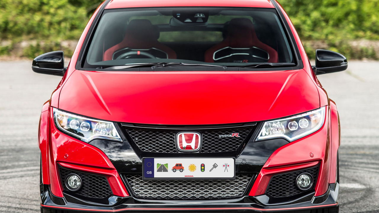 Honda emoji license plate