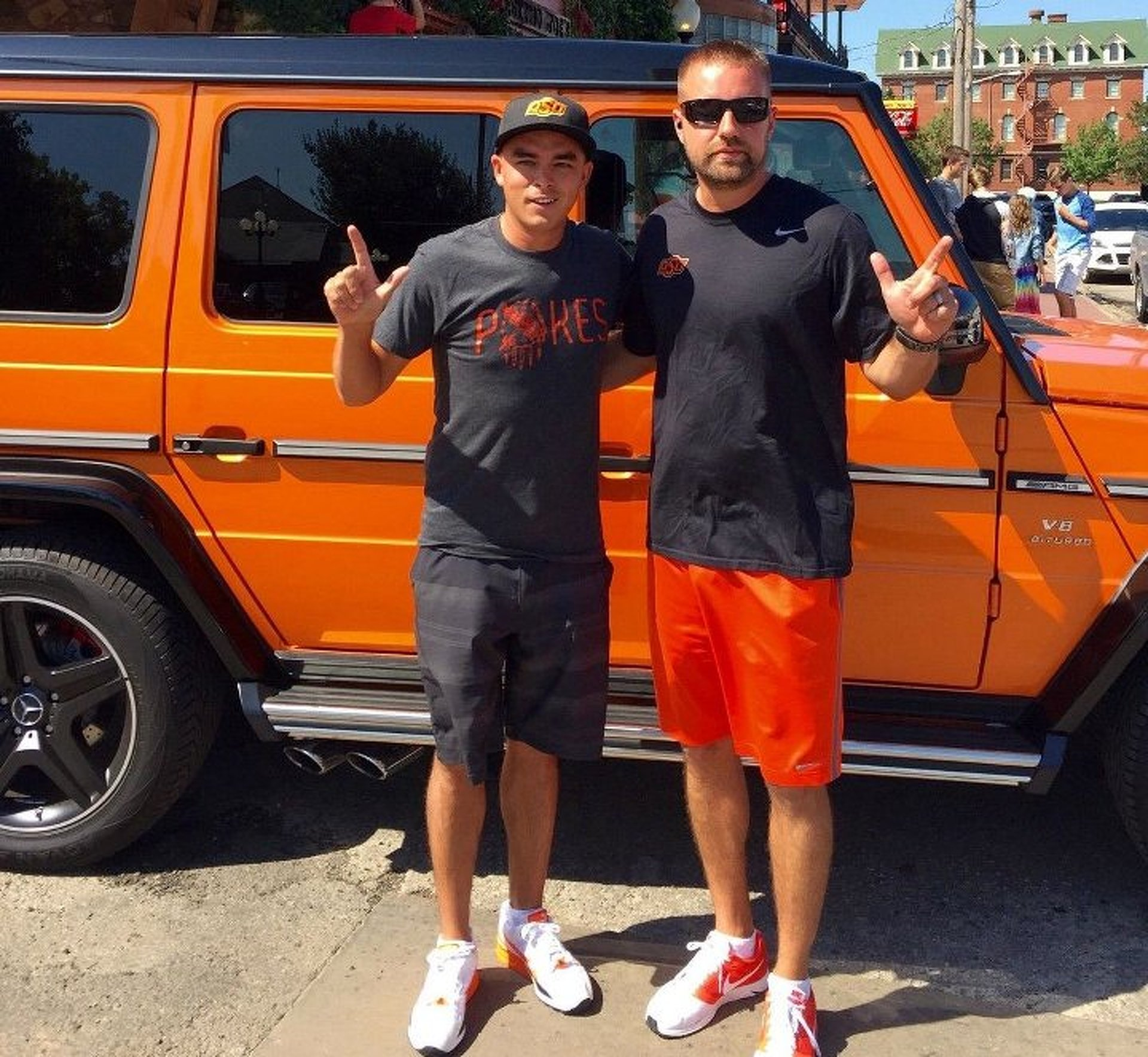 Pro Golfer Rickie Fowler Flaunts His Orange G-Class at Oklahoma State Tailgate