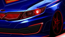 Superman-inspired Kia Optima Hybrid teaser image 29.1.2013