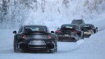 Porsche 911 facelift spy photo