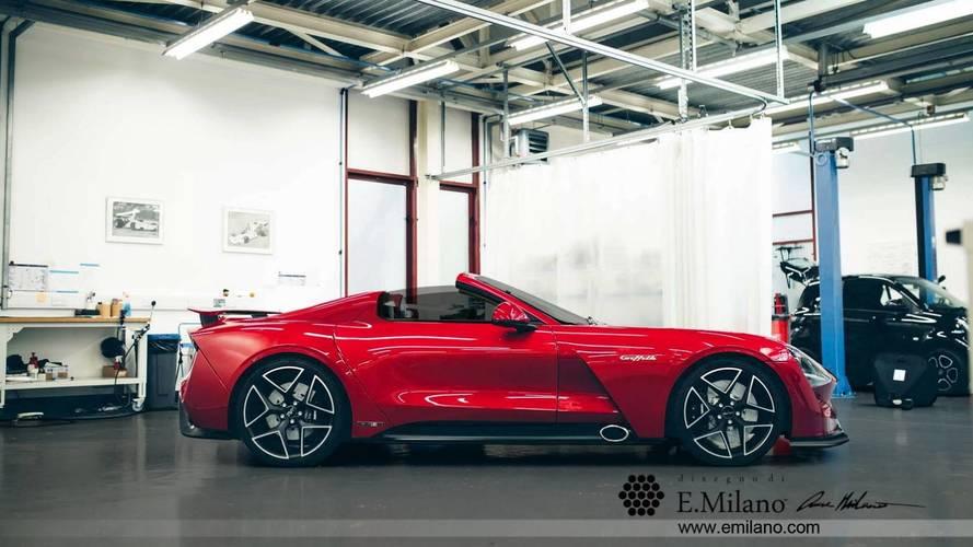La TVR Griffith cabriolet imaginée par Evren Milano