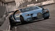 Macron drift en Bugatti Chiron