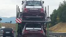 Fiat 500 facelift spy photo / alvolante.it