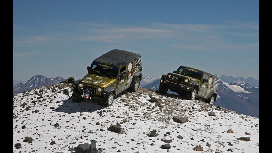 Jeep Wrangler: mai così in alto!