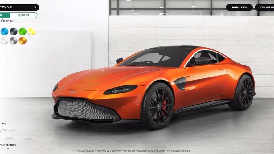 Configurez votre Aston Martin Vantage dès maintenant !