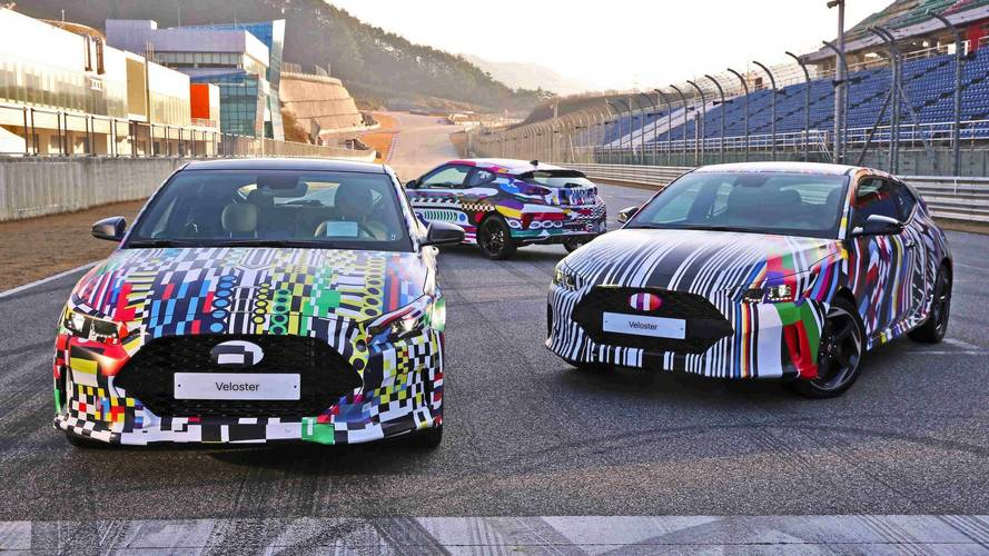 New Hyundai Veloster previewed with colourful prototypes on test
