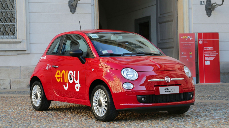 Il car sharing Enjoy a Roma avrà 900 Fiat 500 rosse