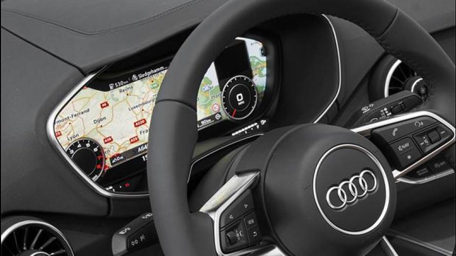 Nuova Audi TT, dietro il volante un maxi-schermo