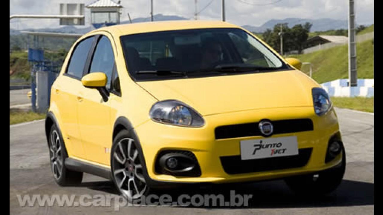 Veja o primeiro comercial do Fiat Punto T-Jet - Esportivo desafia um dragster