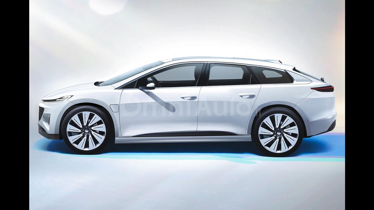 Faraday Future crossover, il rendering