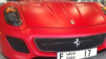 Ferrari 599 GTO in unique matte red, 640, 29.11.2010