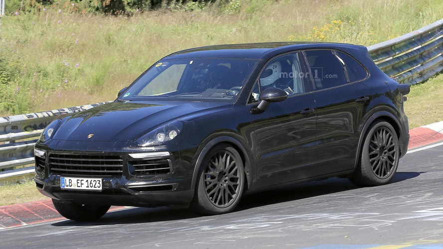 2018 Porsche Cayenne spy shots from the Alps and Nurburgring