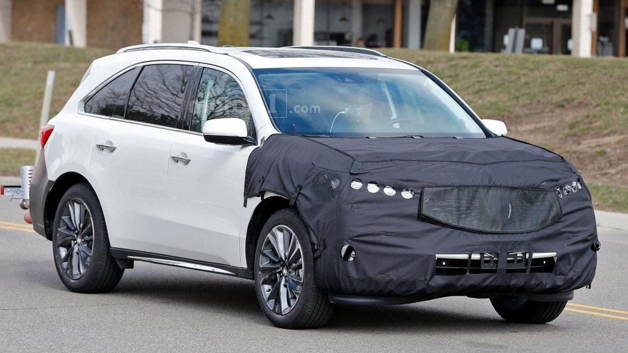 2017 Acura MDX facelift spied ahead of New York debut