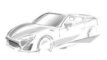 Toyota GT 86 Convertible concept design sketch