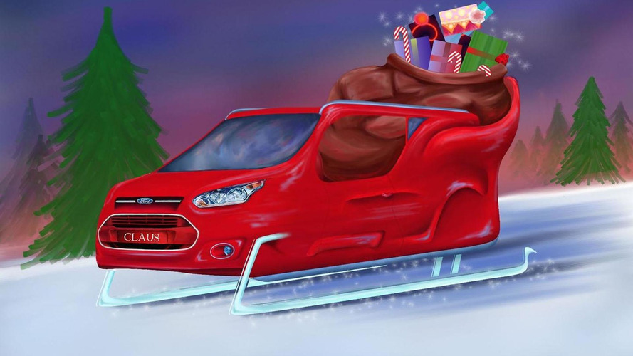 Ford unveils their Transit Connect sleigh