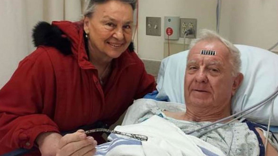 Ford Thunderbird turn signal switch removed from man's arm after 51 years