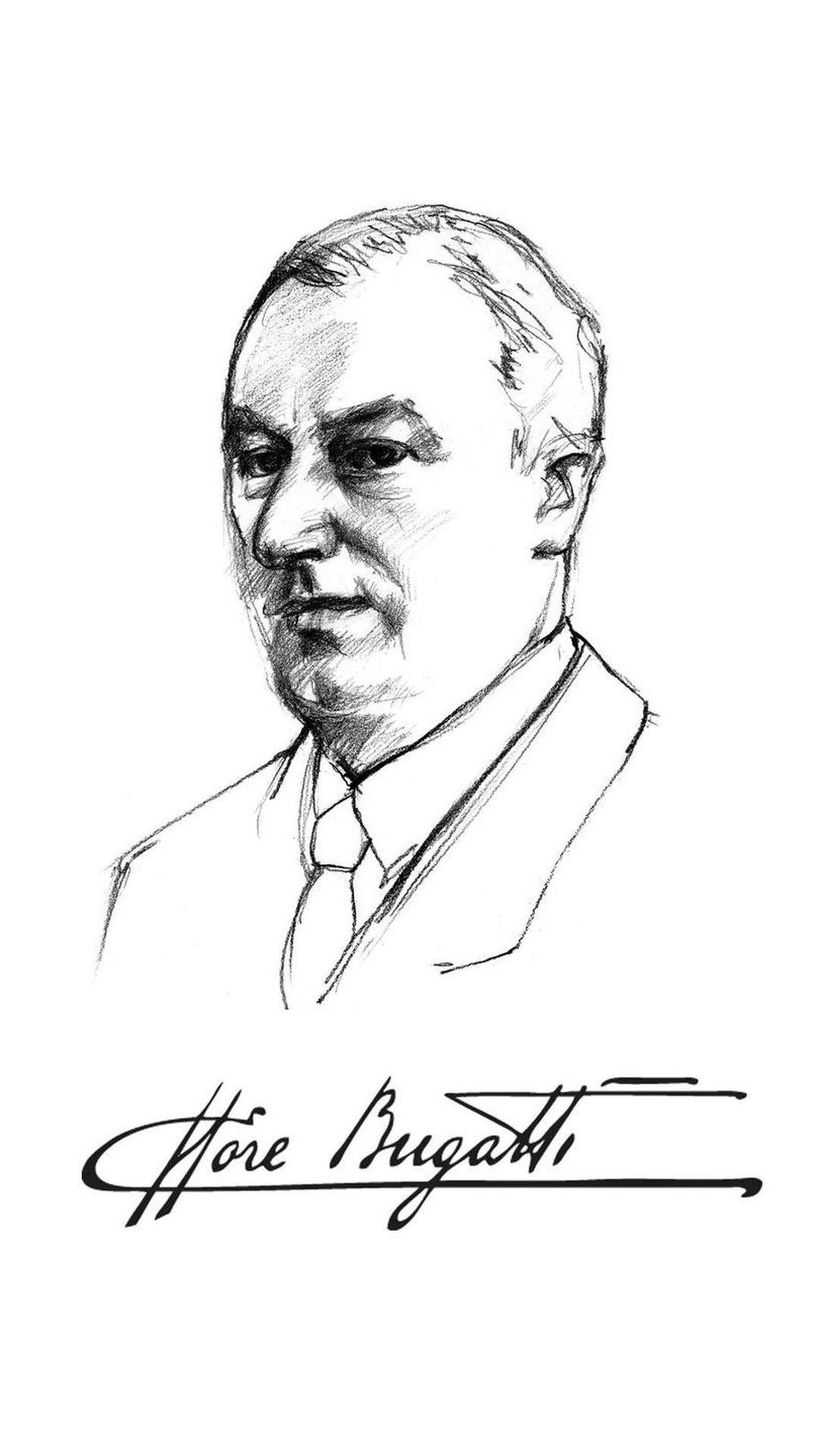 Автопортрет карандашом Этторе Бугатти
