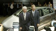 Professor Jürgen Hubbert presents two studies of the new Mercedes-Benz Sports Toure
