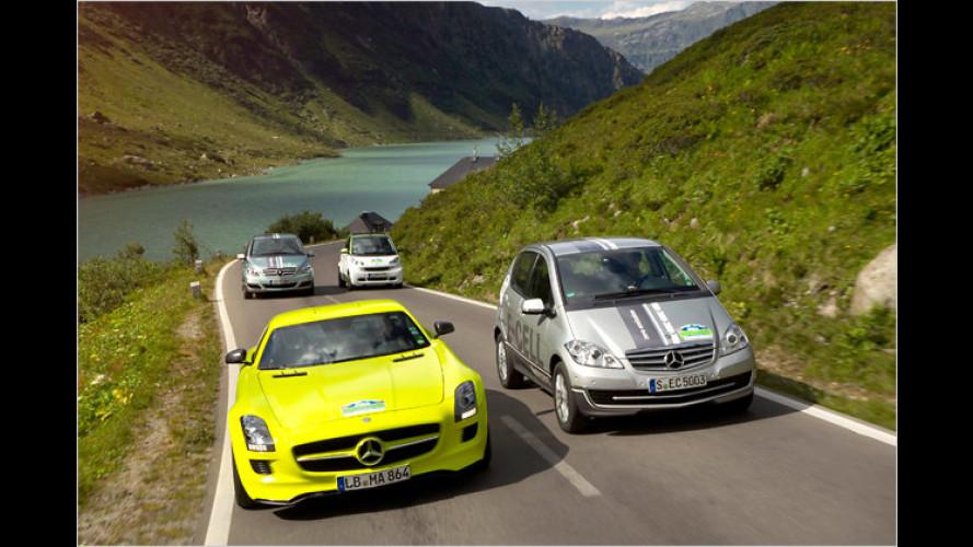 Elektrospaß im Gebirge: Silvretta-Rallye mit Daimler-E-Autos