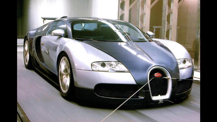 Bodenständiger Überflieger: Bugatti Veyron bleibt kleben