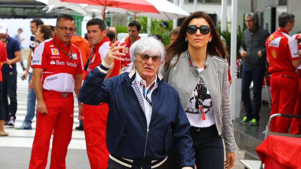 Bernie Ecclestone with wife Fabiana Flosi 24.11.2013 Brazilian Grand Prix