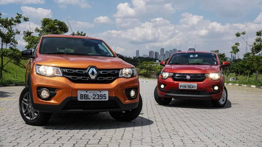 Comparativo Renault Kwid x Fiat Mobi – Os menores frascos