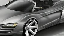 Audi R8 spider design sketch
