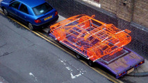 Lamborghini Countach wireframe by Benedict Radcliffe - 1280