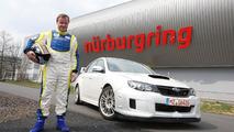 Subaru WRX STI sedan, Tommi Mäkinen, Nurburgring Nordschleife, Germany, 09.06.2010