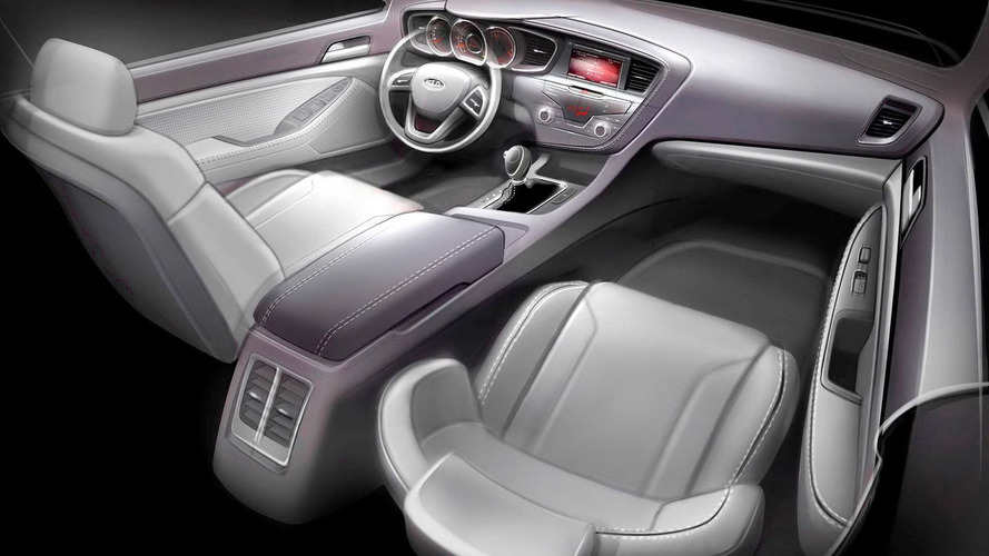 Kia Optima Interior Teaser Sketch Released