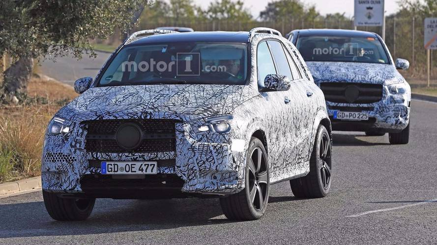 Mercedes-Benz GLE And GLS SUVs Spied Testing Together