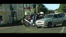 Bike Lada Samara crash Russia