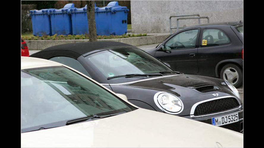 Fescher Flachmann: Mini Roadster erwischt