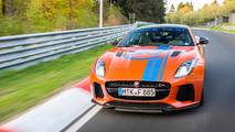 Jaguar F-Type SVR and XJ575 Nurburgring taxis