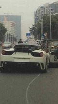 Mansory Ferrari 458 Siracusa crash in China