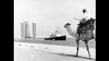 1961, trasferimento della piattaforma della Saipem