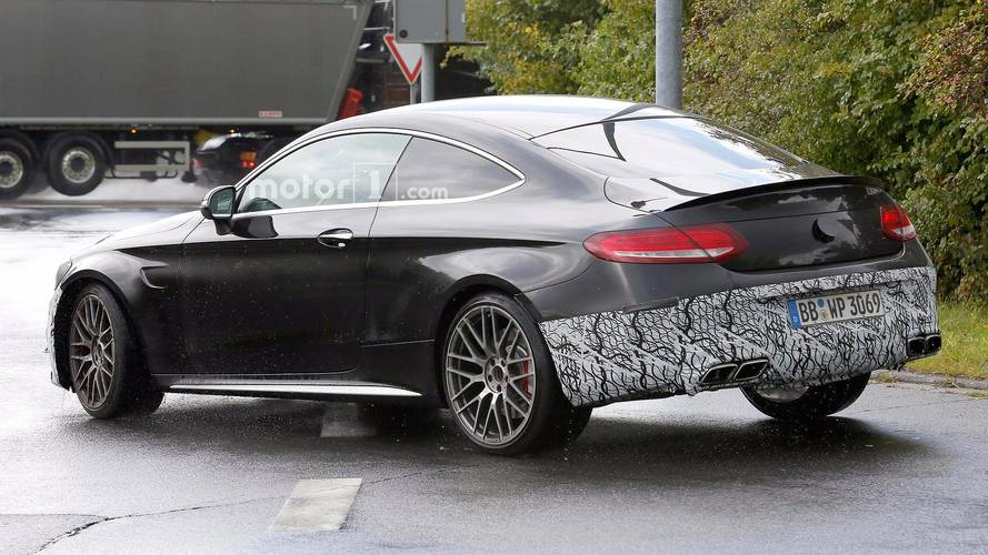 Mercedes-AMG C63 Coupe Refresh Spy Shot