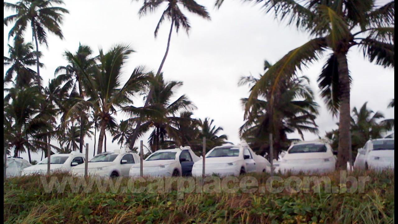 Nova Saveiro 2010 já está em Porto de Galinhas - Leitora envia foto do estacionamento