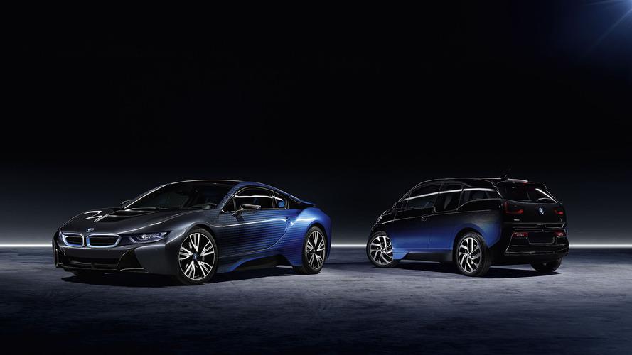 BMW i3 ve i8 yeni renk geçişli temalarını gösterdi